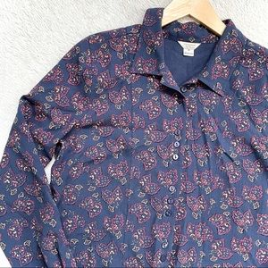 Christopher & Banks | Long Sleeve Blouse Size M